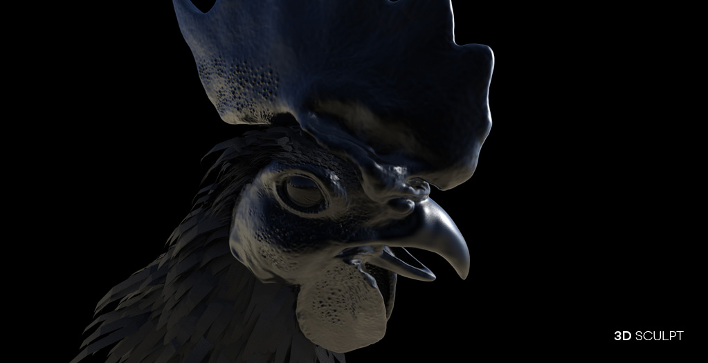 gallo-negro-3d-sculpt